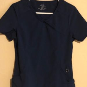 Cherokee Infinity Medical Scrub Top Gray Shirt